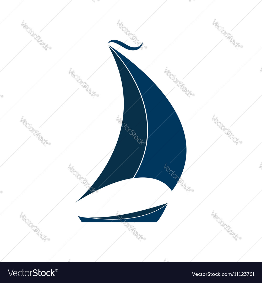 The ship with sails Logo for Yacht Club vector image