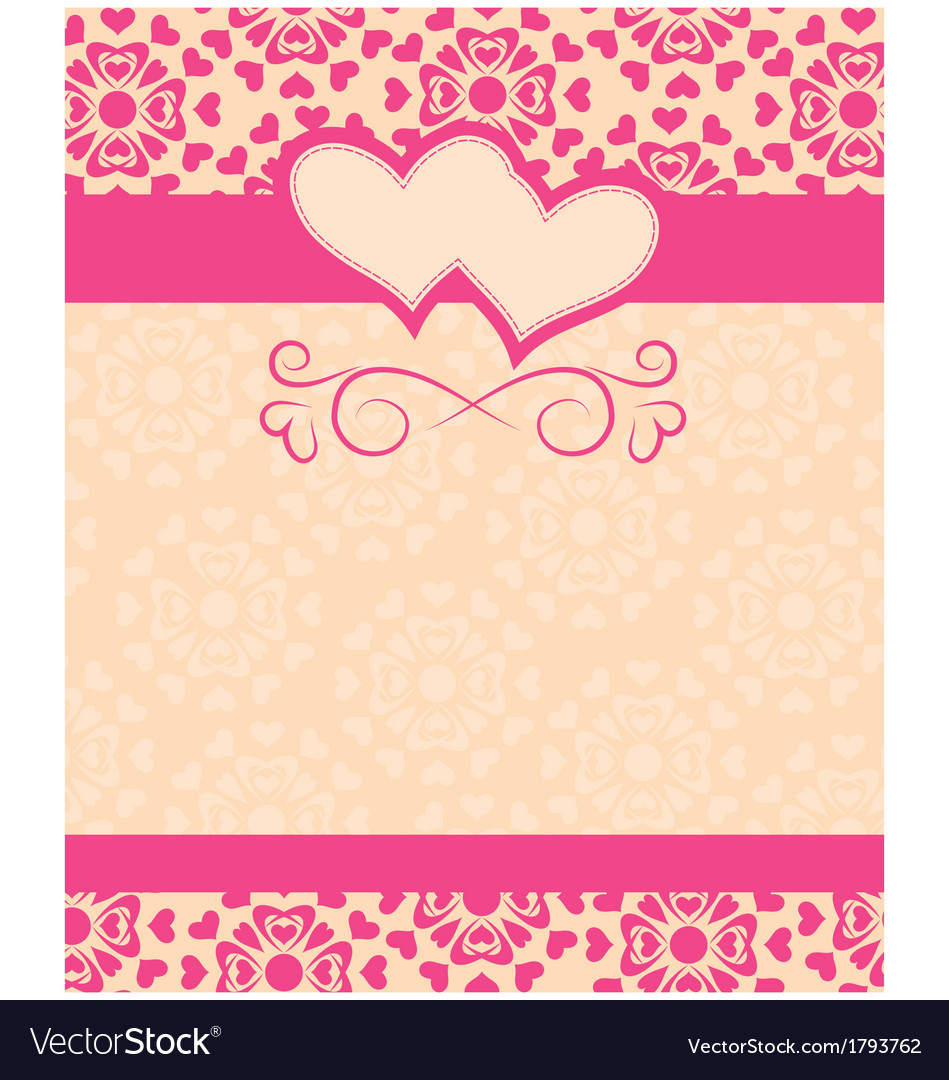 Greeting Card Happy Valentines Day And Wedding Vector Image