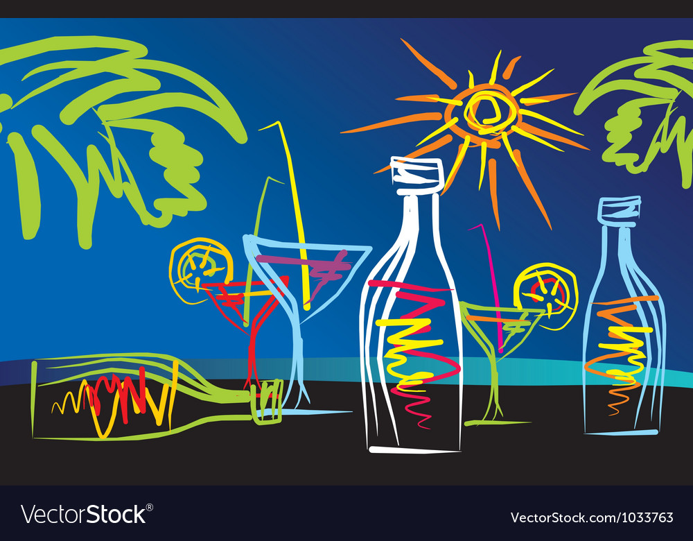 Cocktails001 vector image
