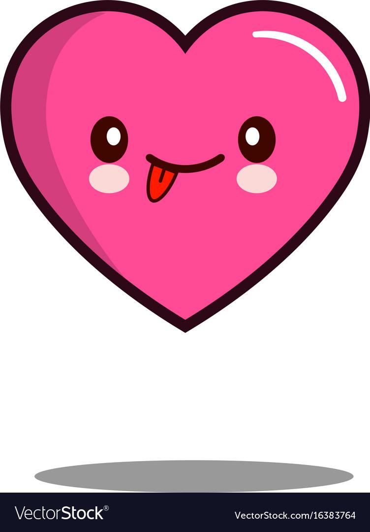 Emoticon cute love heart cartoon character icon vector image buycottarizona Images