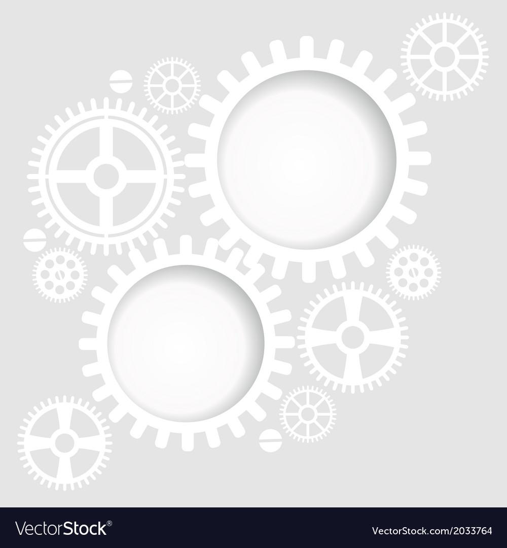 Gear and cogwheel background vector image