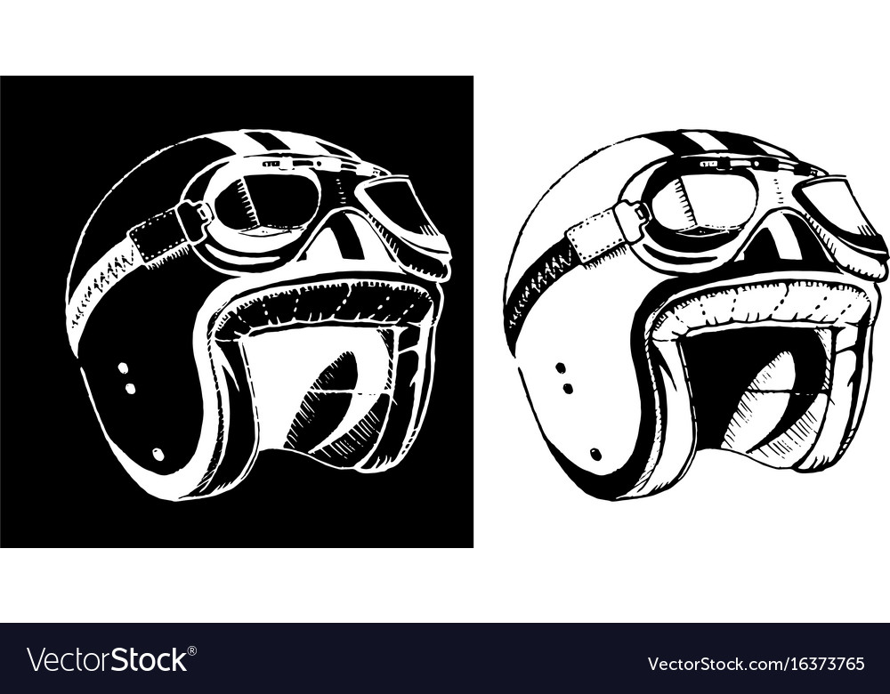 Cafe racer print t-shirt emblem helmet vector image