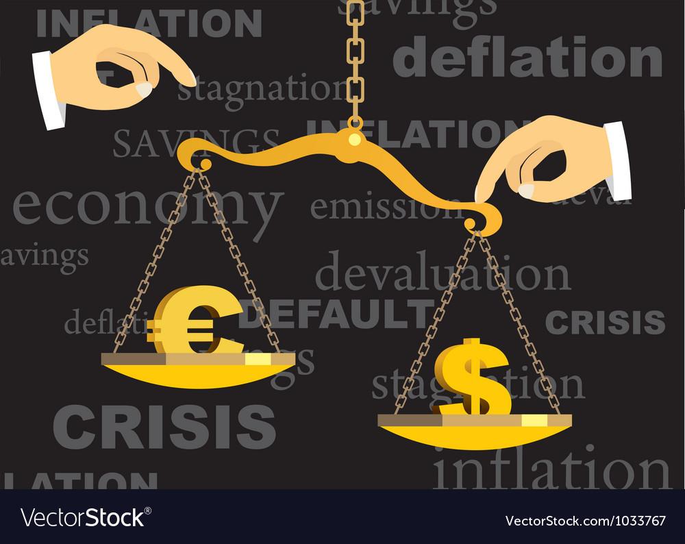 Crisis vector image