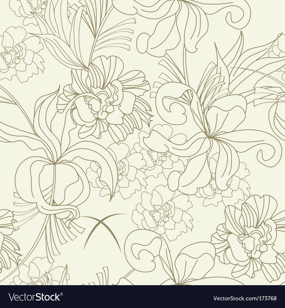 Summer seamless wallpaper vector image