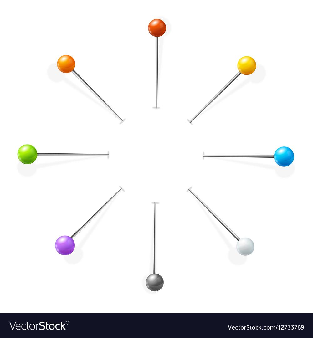 Sewing Needles or Pin Set vector image