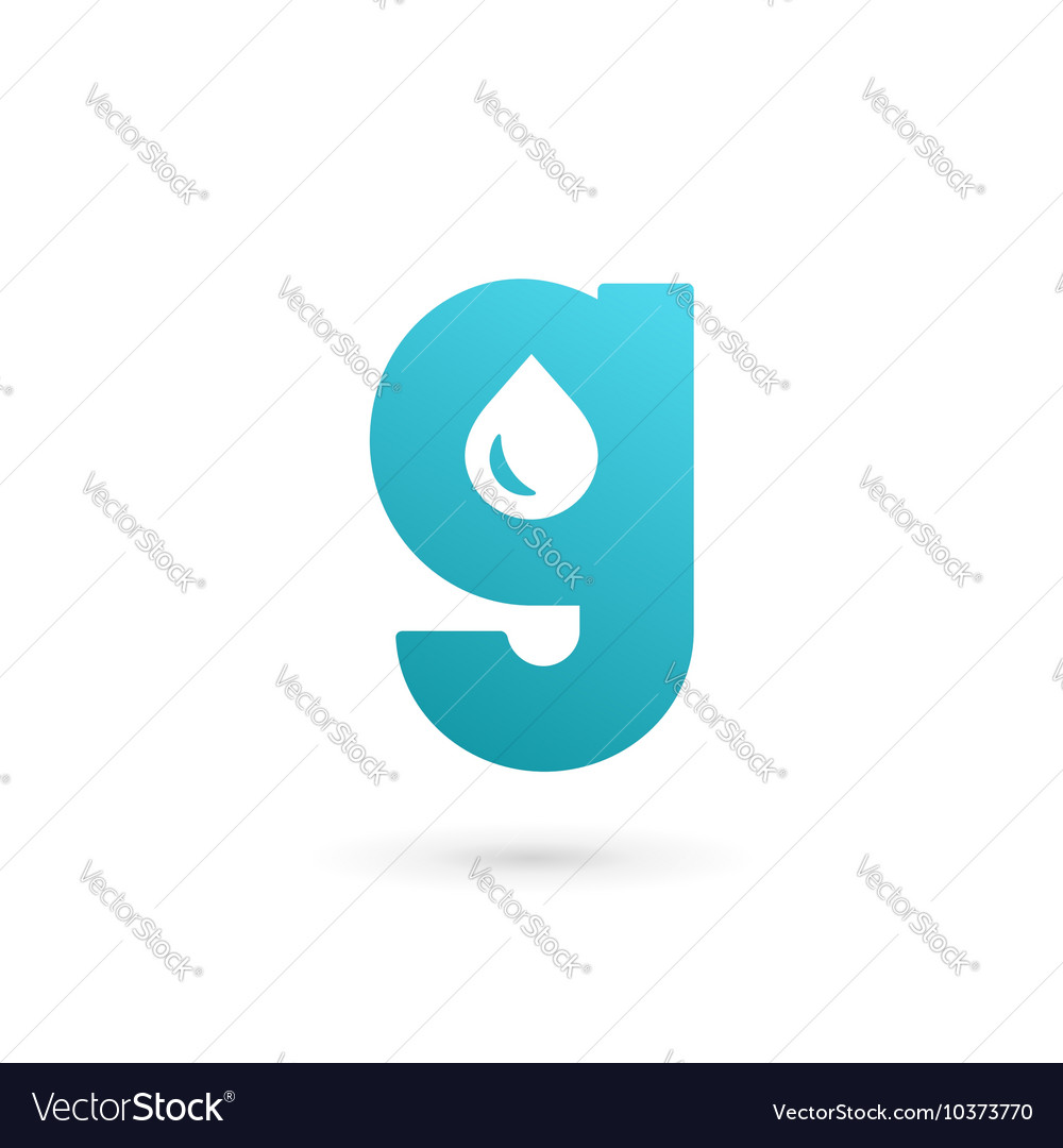 Letter g water drop logo icon design template vector image altavistaventures Gallery