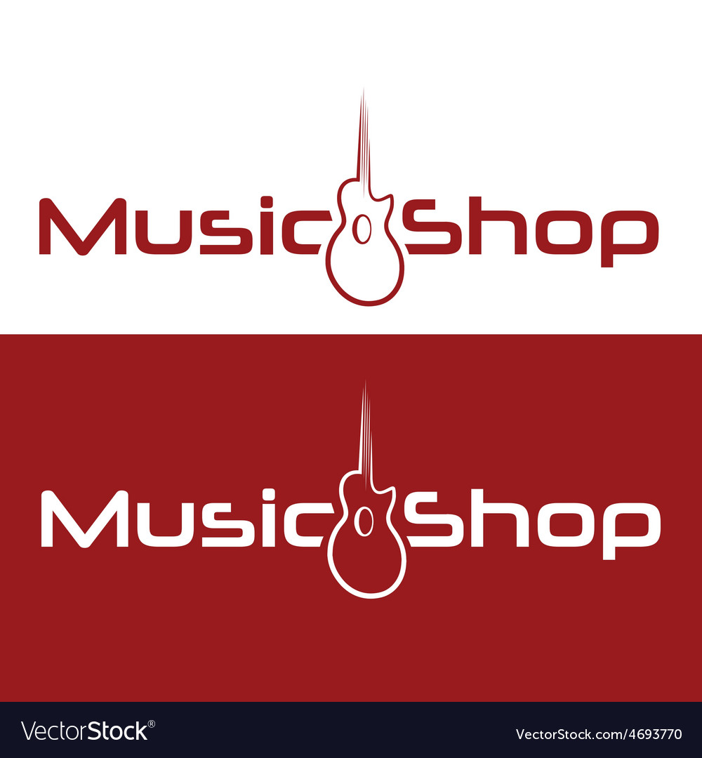 Music shop design template vector image