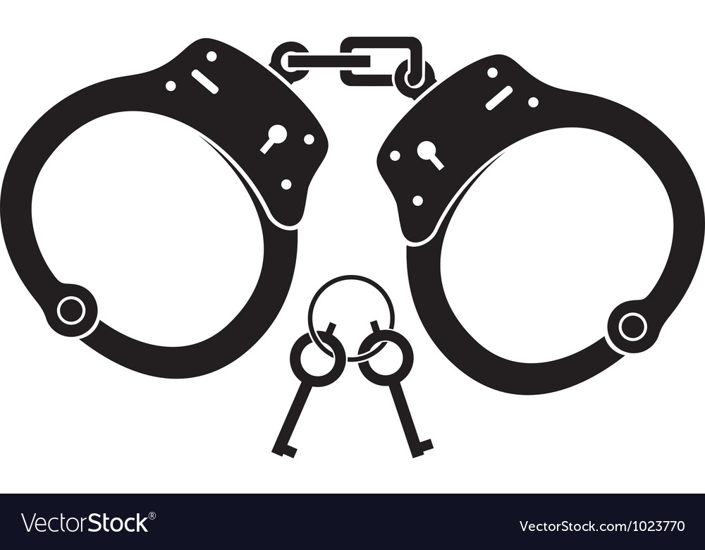 Police handcuffs vector image