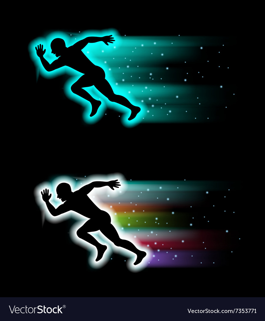 Sport running background vector image