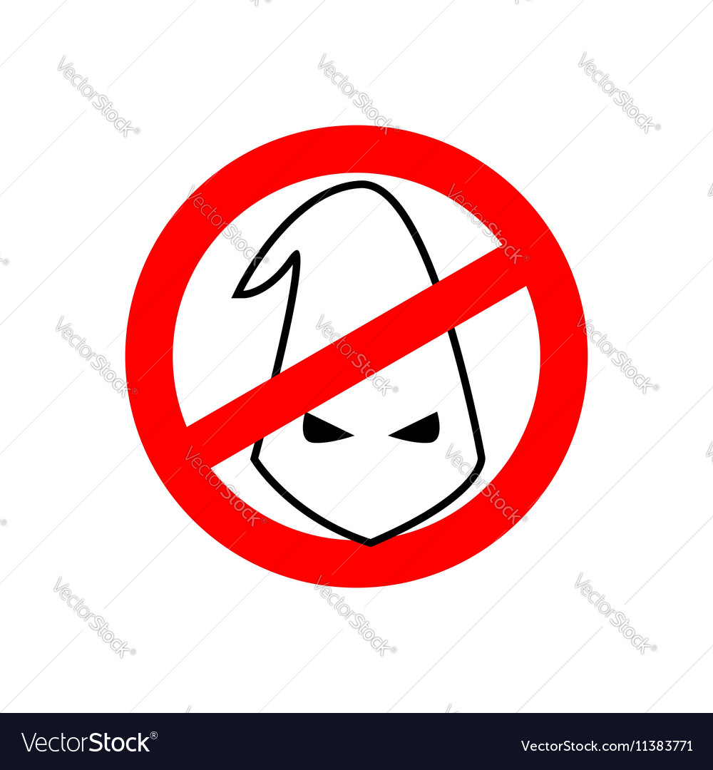 Stop racism prohibited ku klux klan crossed white vector image biocorpaavc Images
