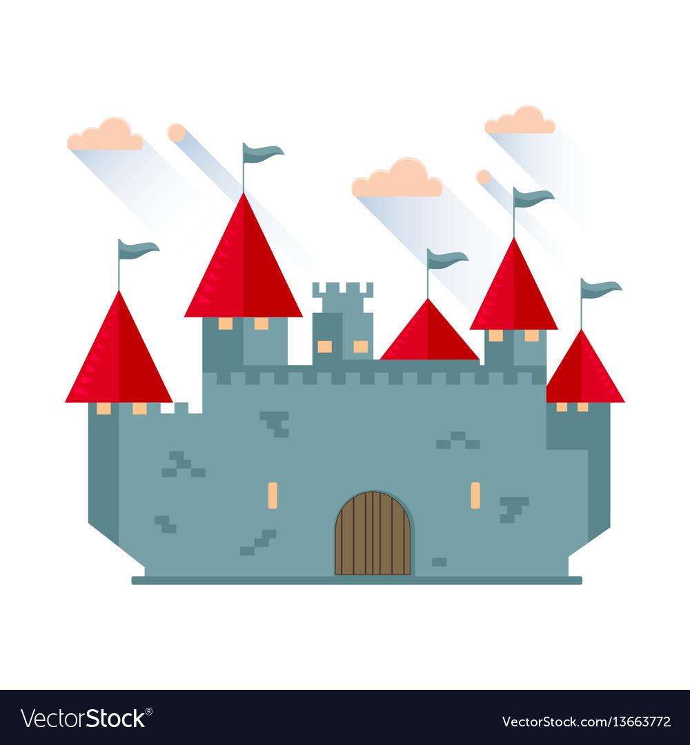 Cartoon fairy tale castle tower vector image