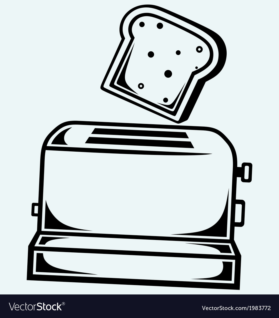 Toast popping out of a toaster vector image