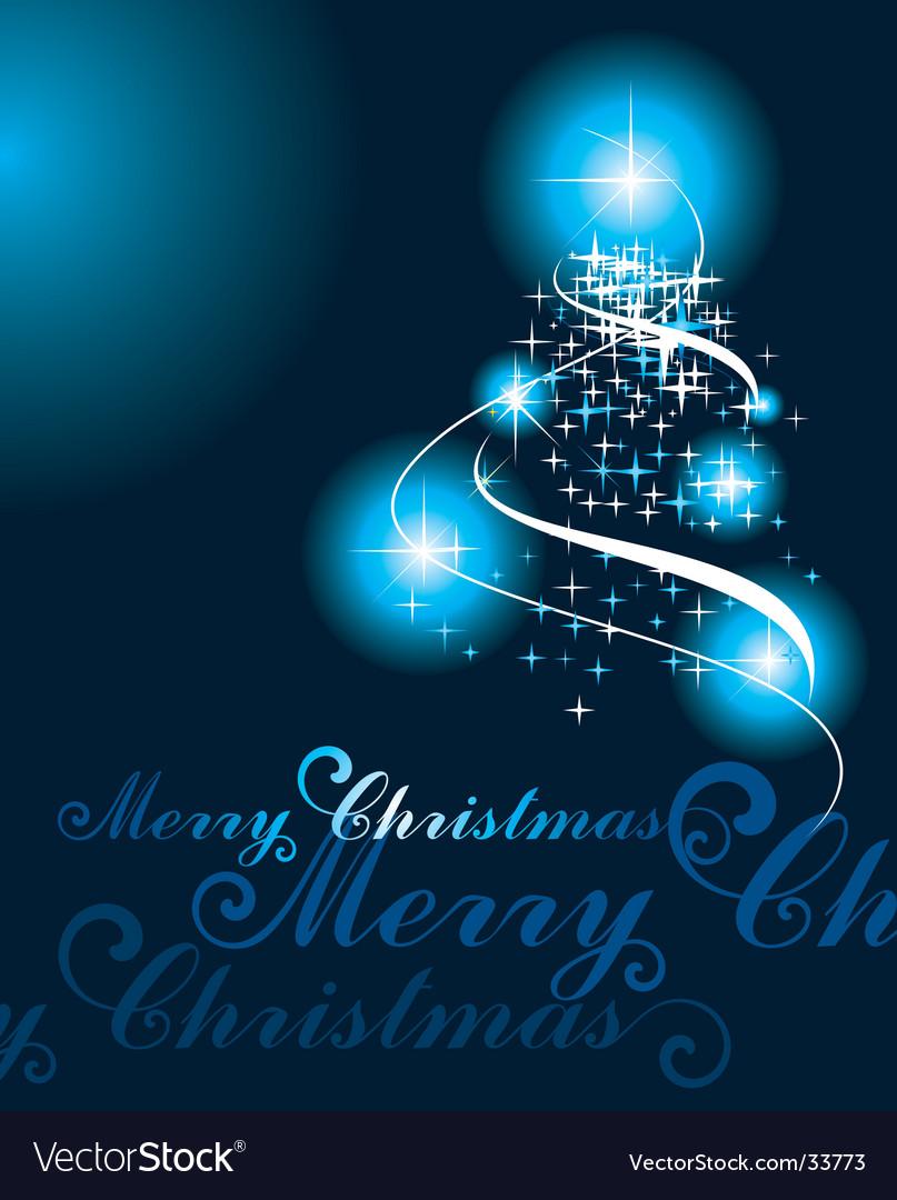 Christmas tree lights vector image