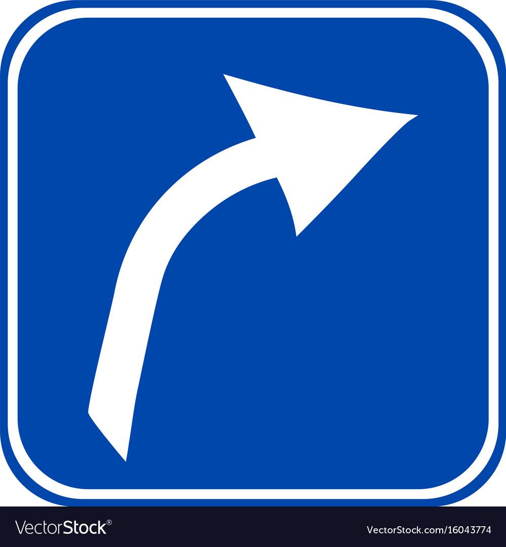 Arrow sign button vector image