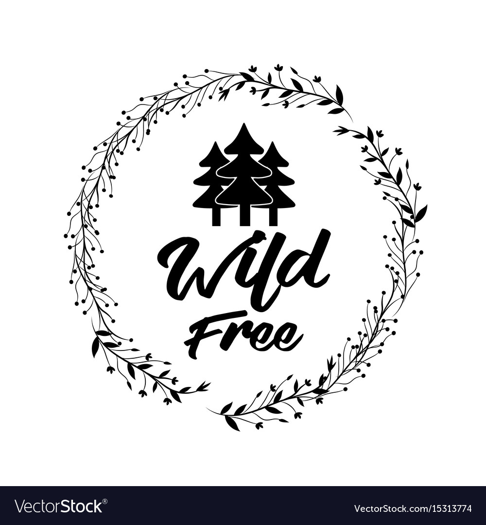 Branches around pine trees design vector image