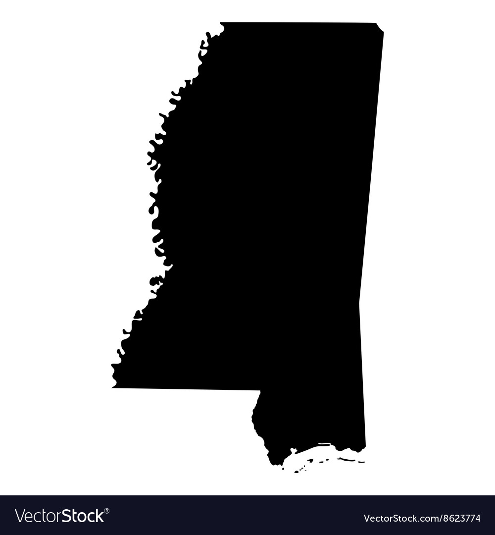 map of the us state of mississippi vector image