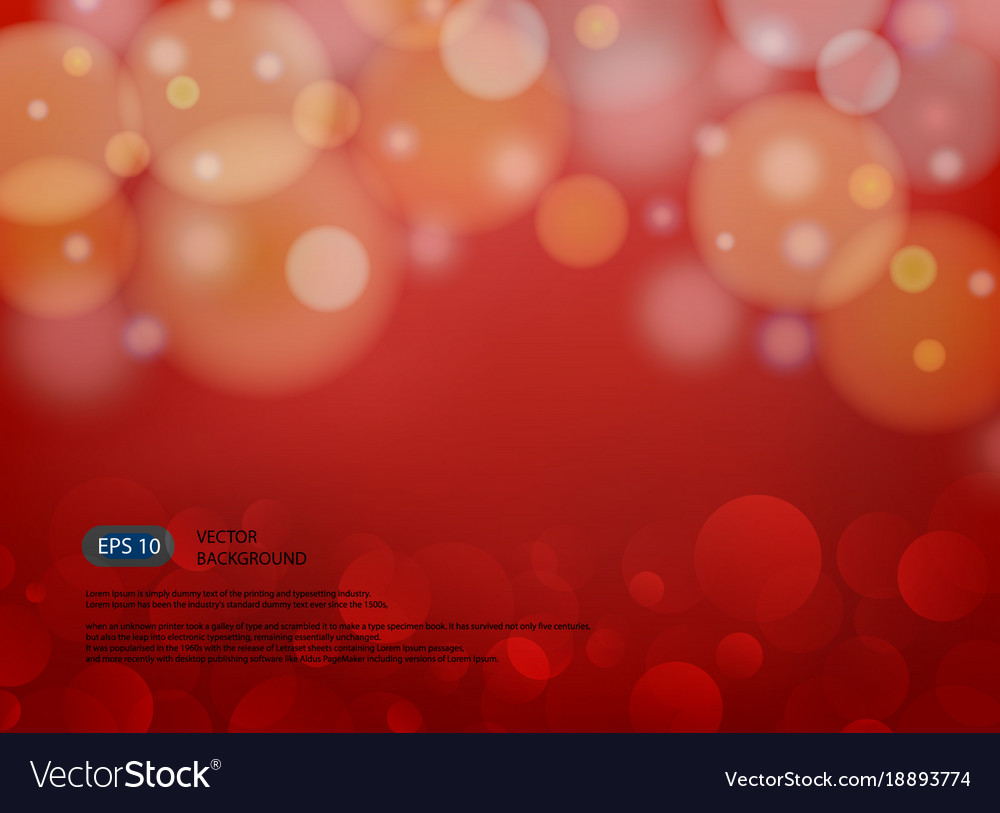 Red blur abstract background with light in modern vector image