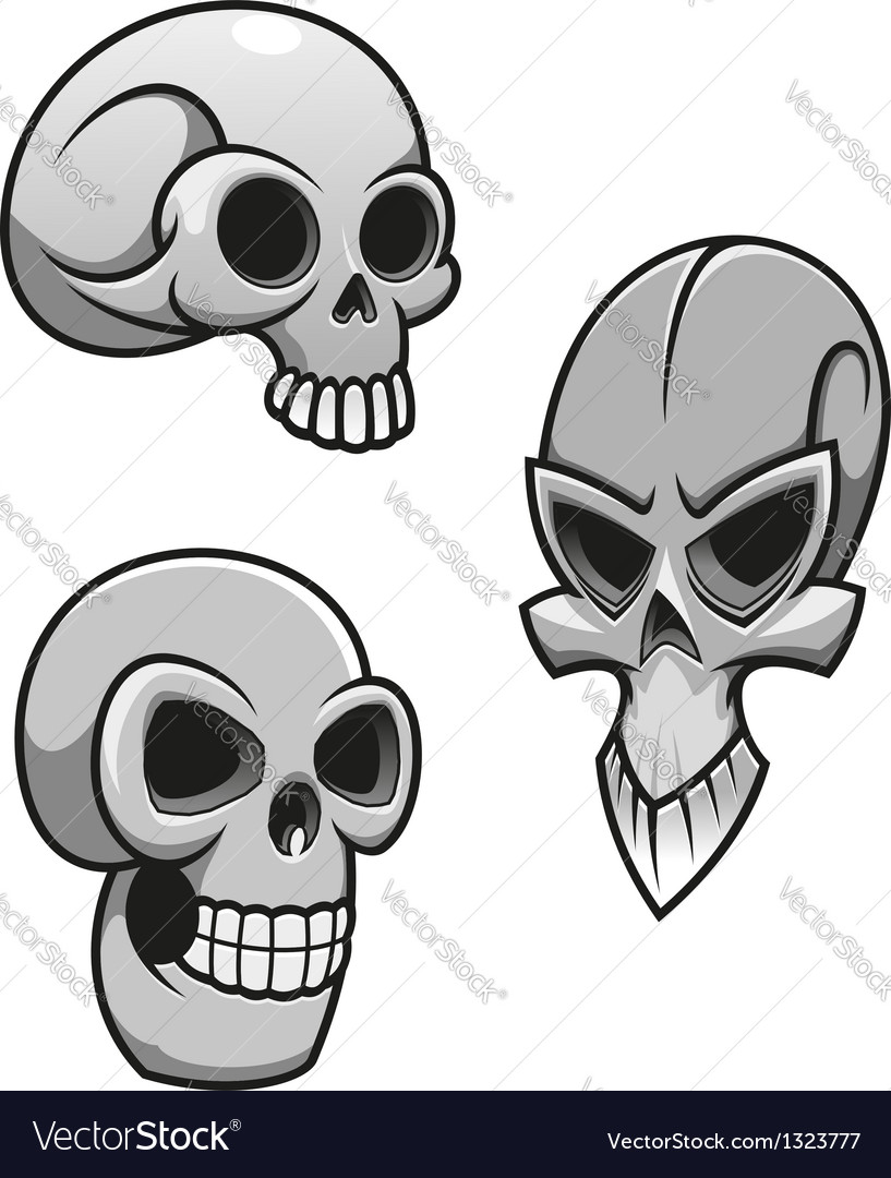 Set of skulls vector image