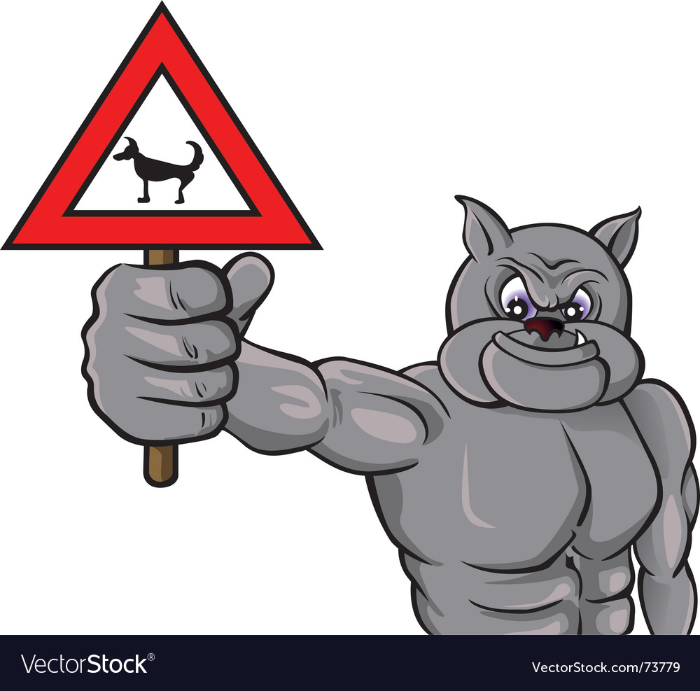 Beware dog vector image