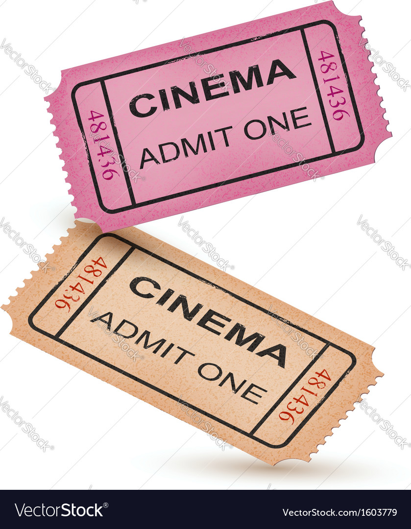 Old vintage paper tickets with numbers vector image
