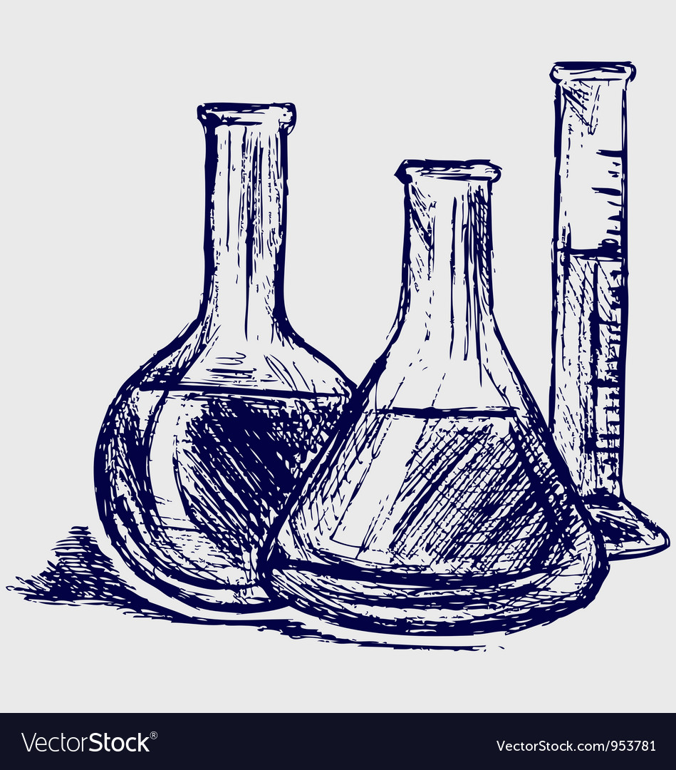 Laboratory glassware vector image