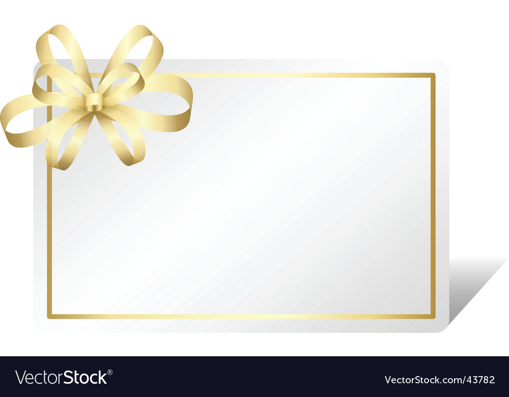 Gold gift card vector image