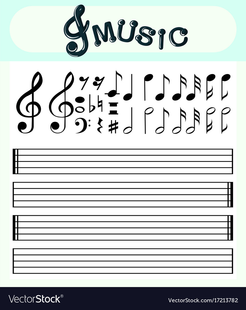 music notes template