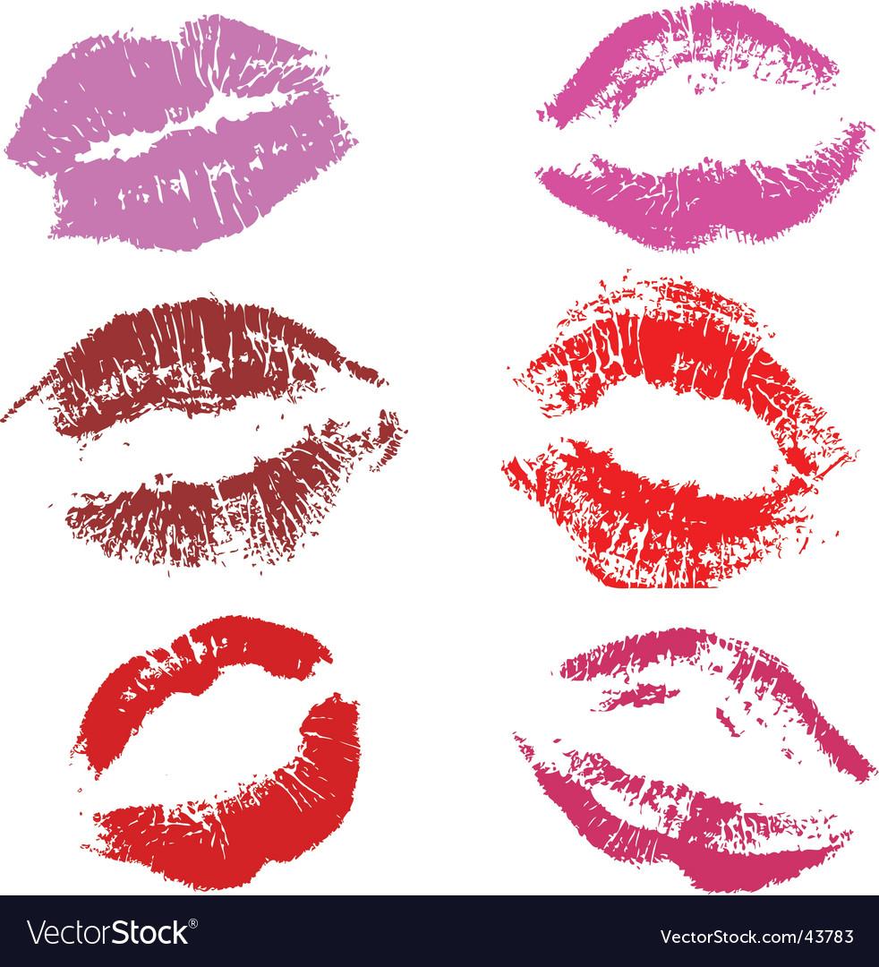 Kisses vector image