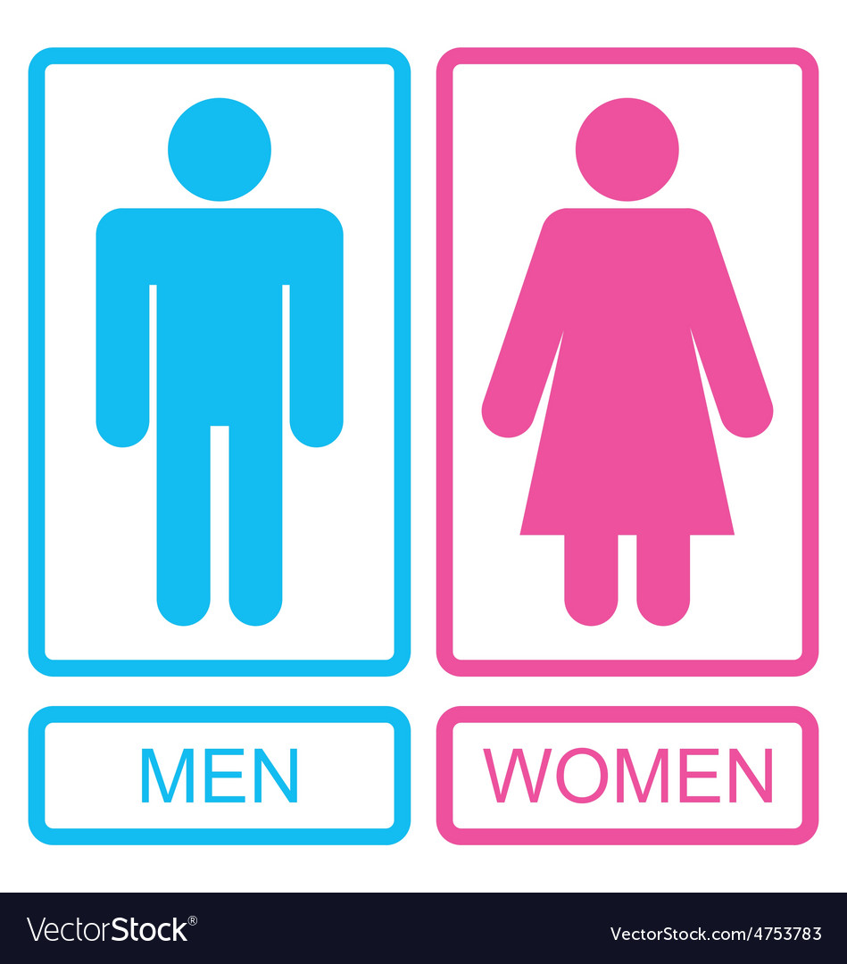 Male and Female Icons vector image