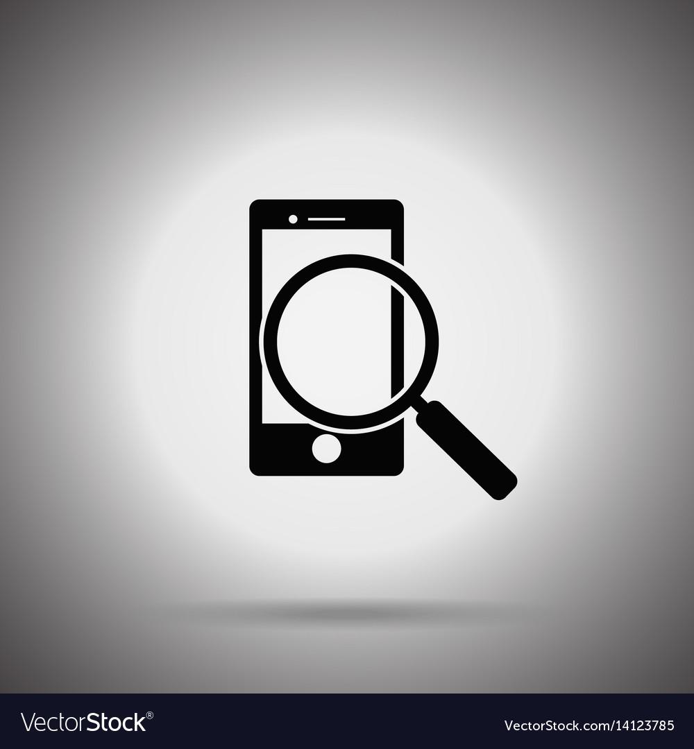 Search smartphone icon vector image