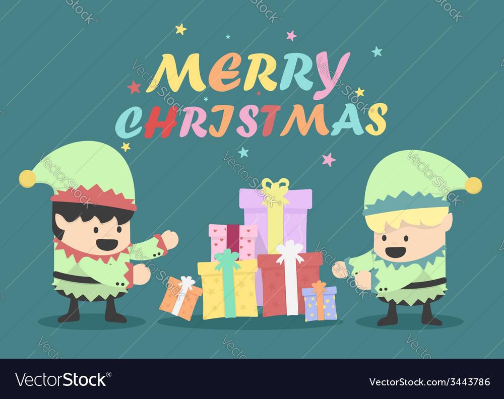 Vintage Christmas eves poster design vector image