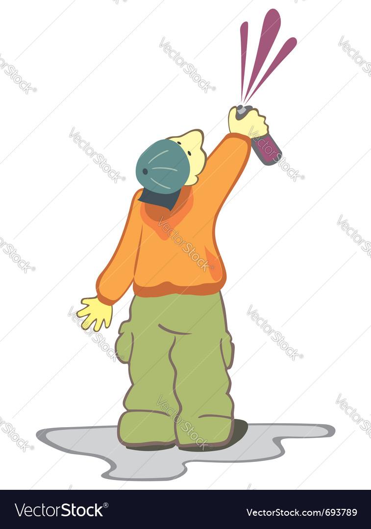 Graffiti man vector image