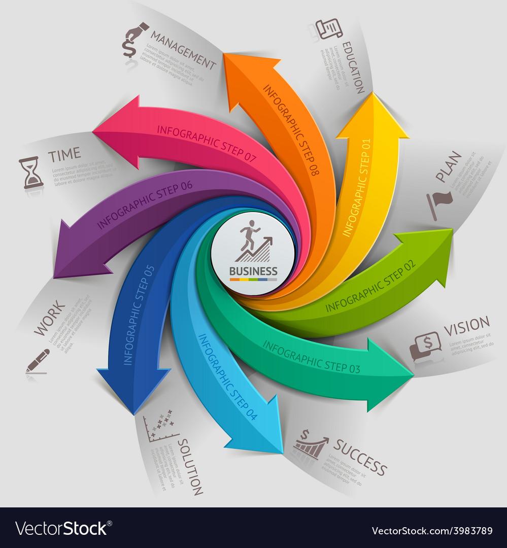 Arrow business infographics template vector image