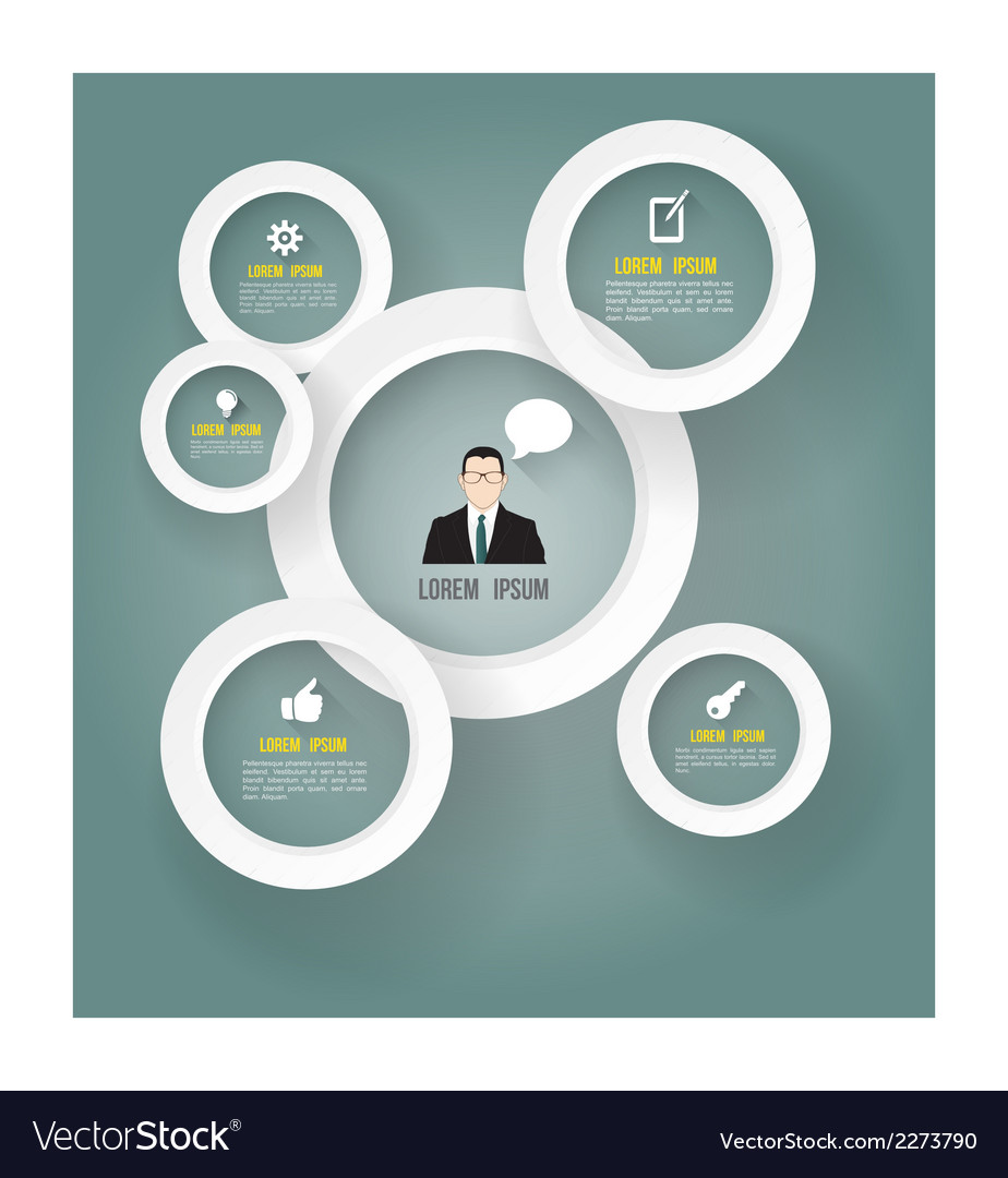 Circle modern with business man icon vector image