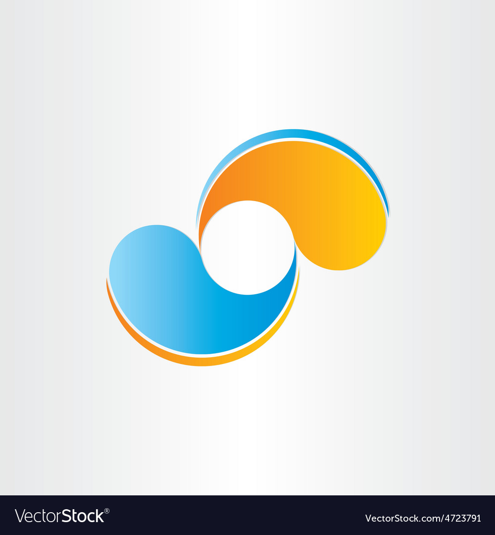 Abstract business icon company design element vector image