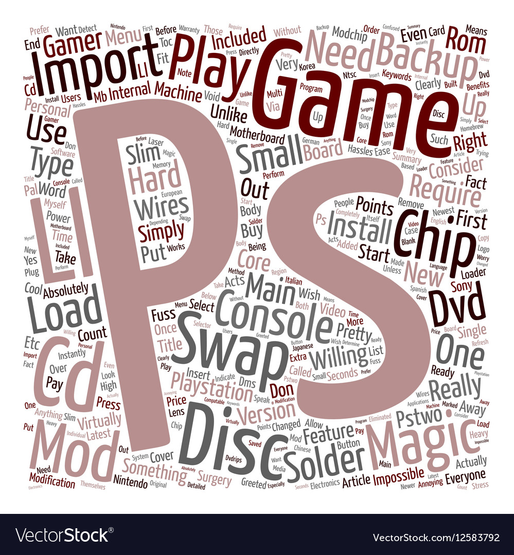 PS2 Swap Magic Import And Backup PS2 Games Are vector image