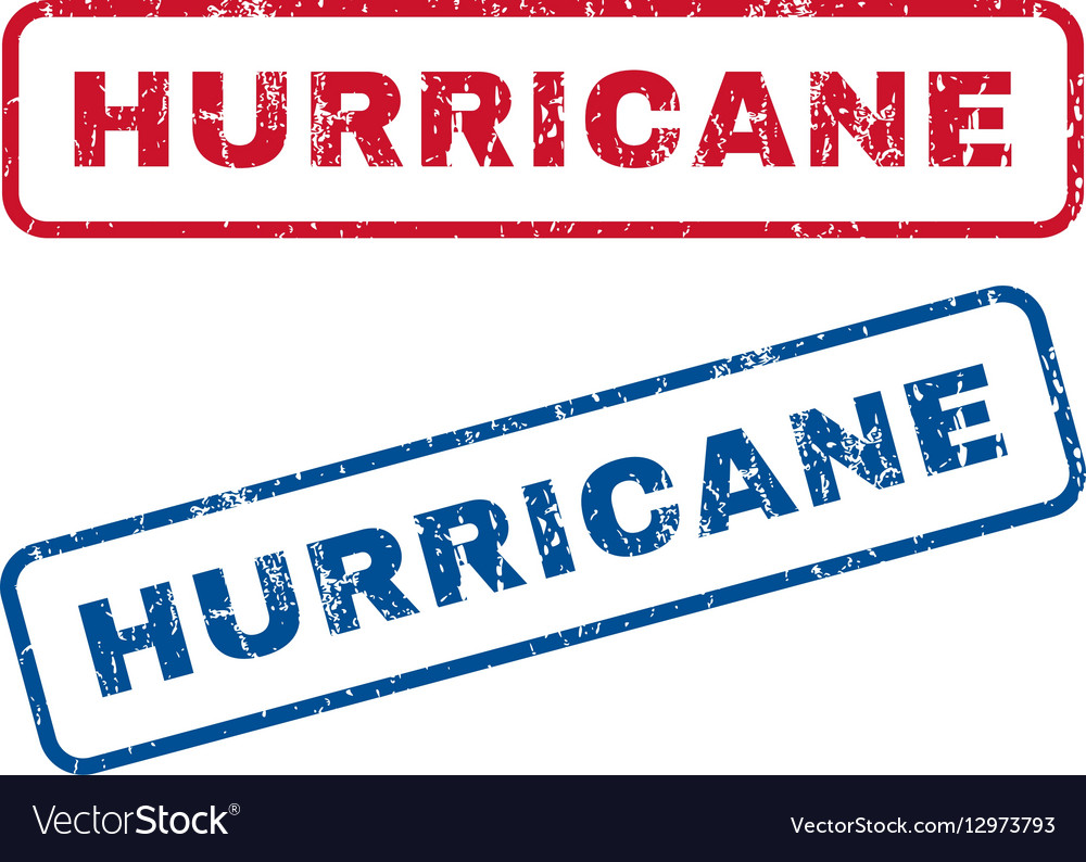 Hurricane Rubber Stamps vector image