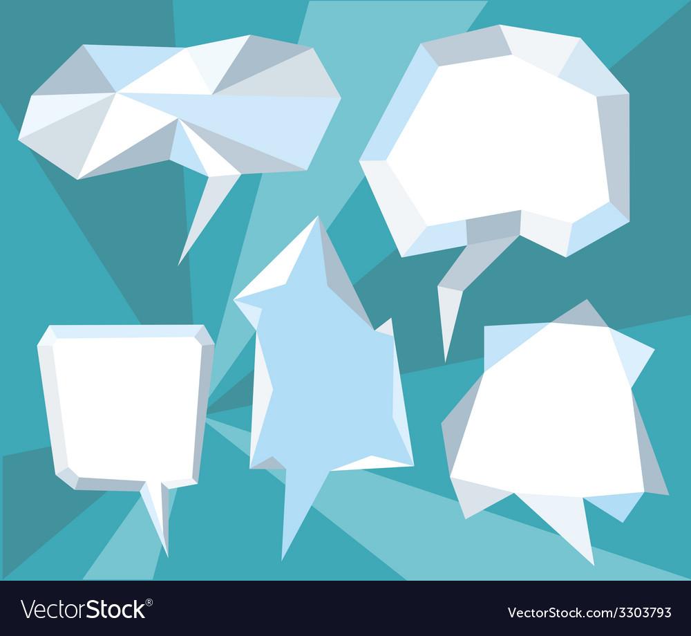 Triangular 3d bubble speech vector image