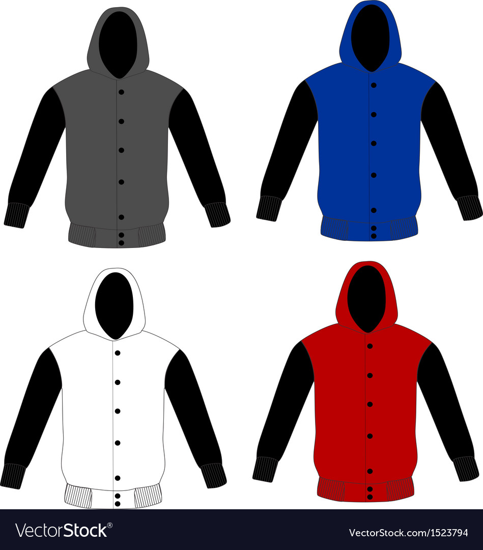 Sweater hoodie template vector image