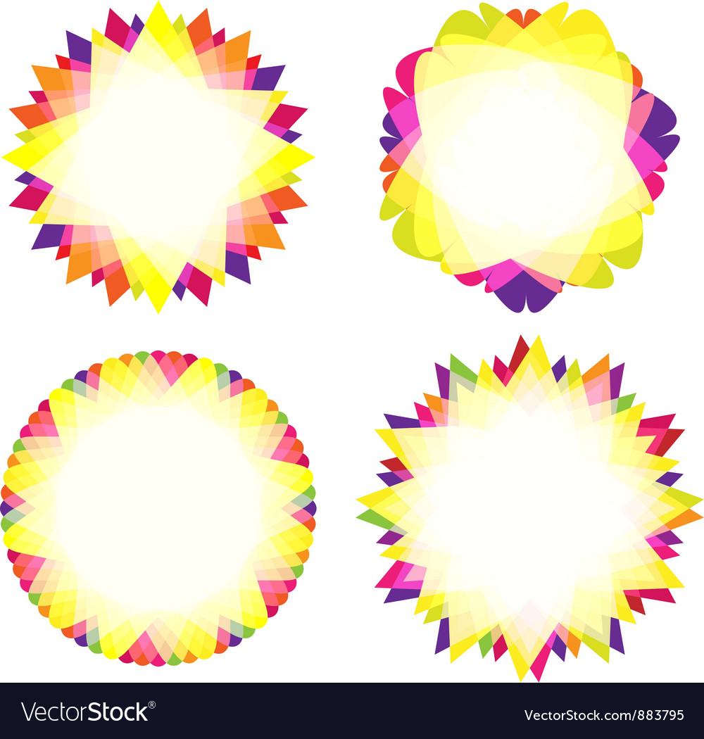 Abstract geometric shapes with space for text vector image