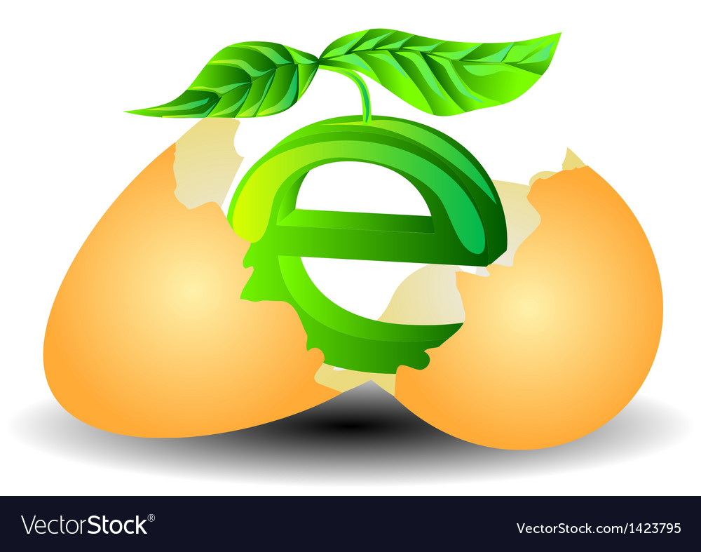 Ecological egg vector image