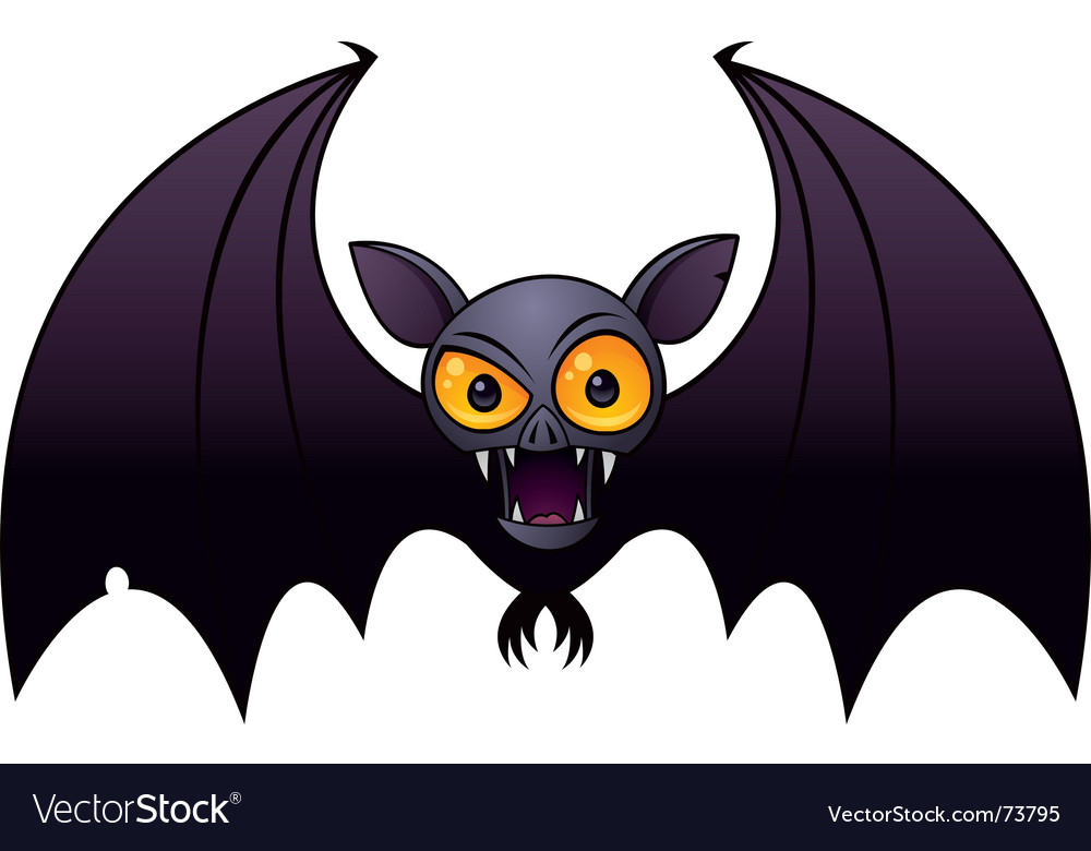 Halloween vampire bat Royalty Free Vector Image