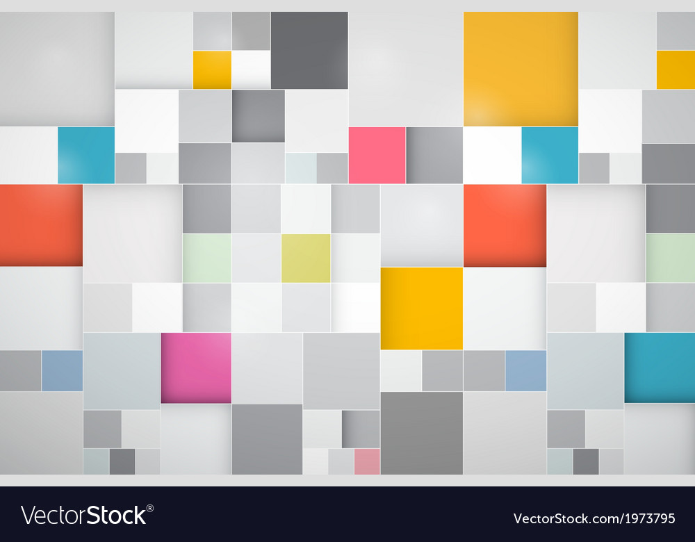 Square Colorful Abstract Background vector image