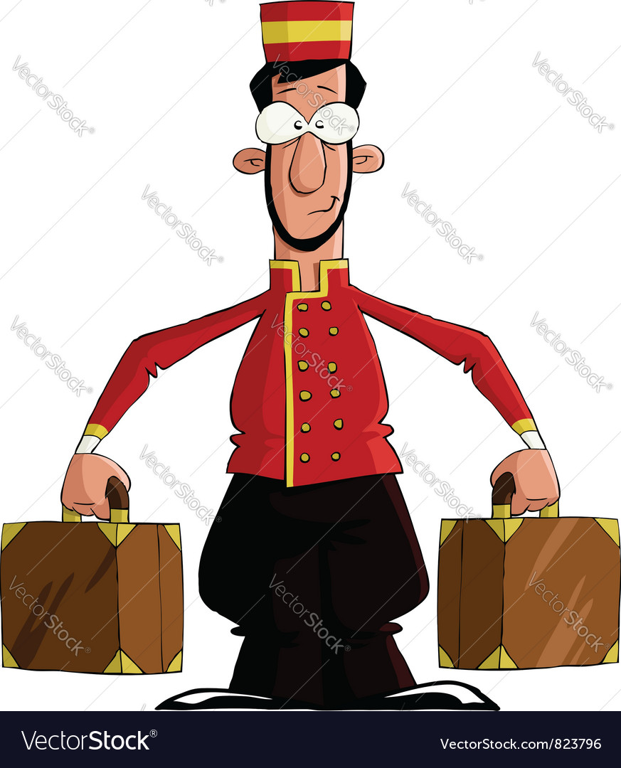 Luggage porter vector image