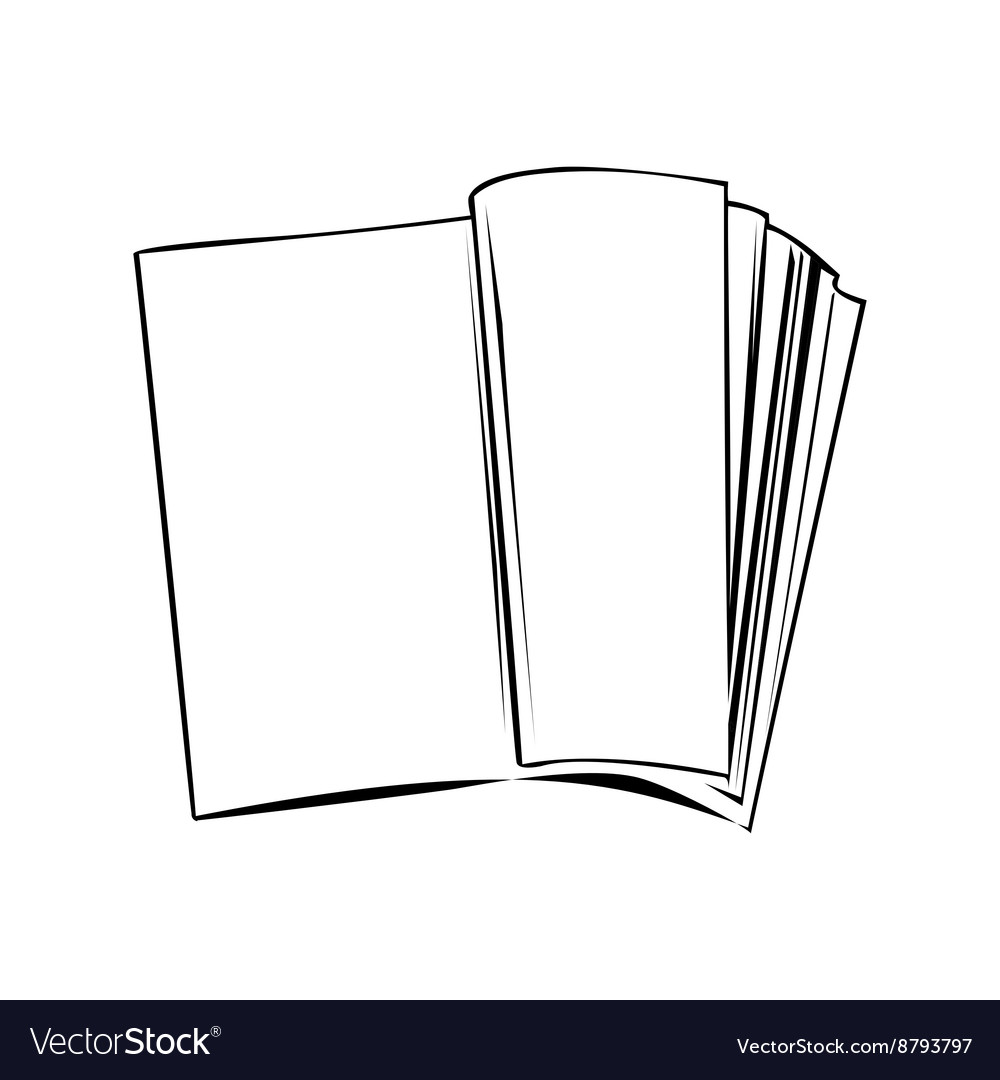 Open book banner isolated of white background vector image