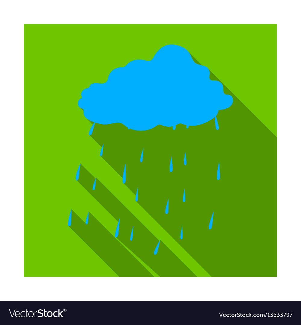 Scottish rainy weather icon in flat style isolated vector image