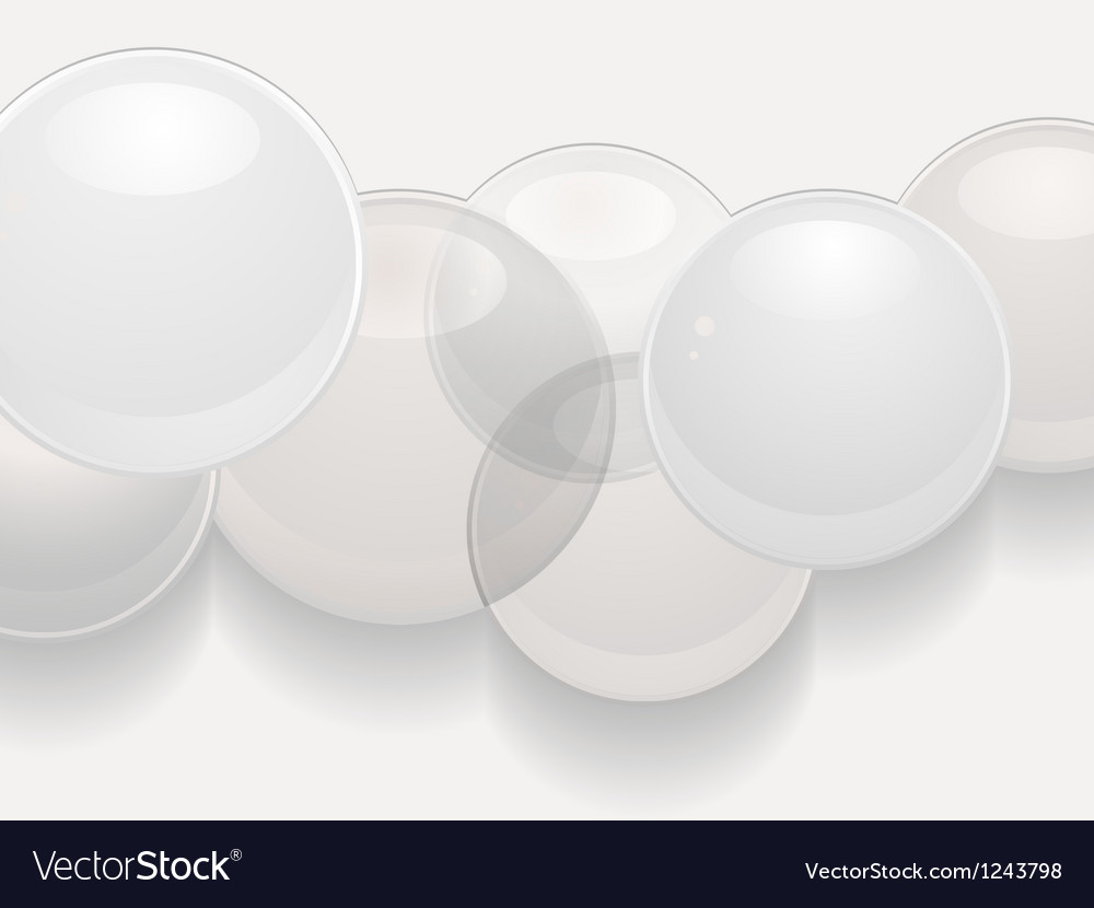 White glossy sphere 3d background vector image