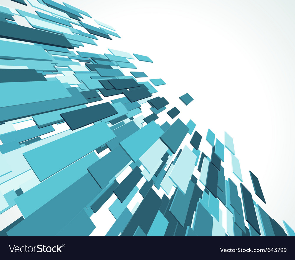 Fly blue 3d lines background vector image