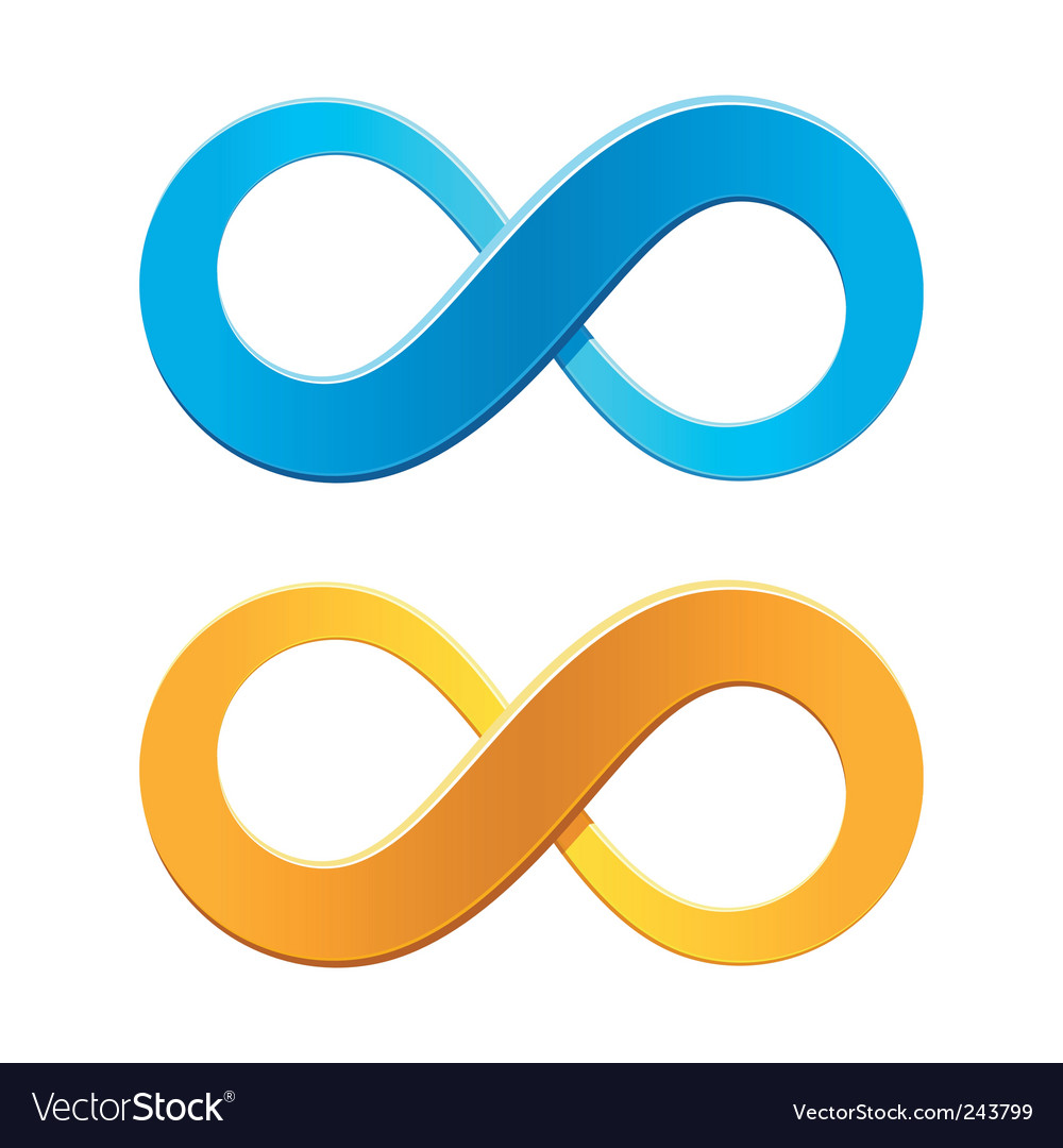 Infinity symbol royalty free vector image vectorstock infinity symbol vector image buycottarizona Choice Image