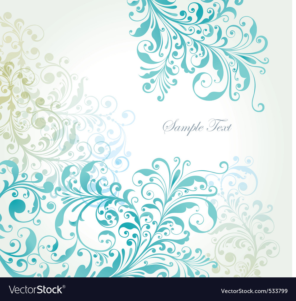 Summer floral vector image